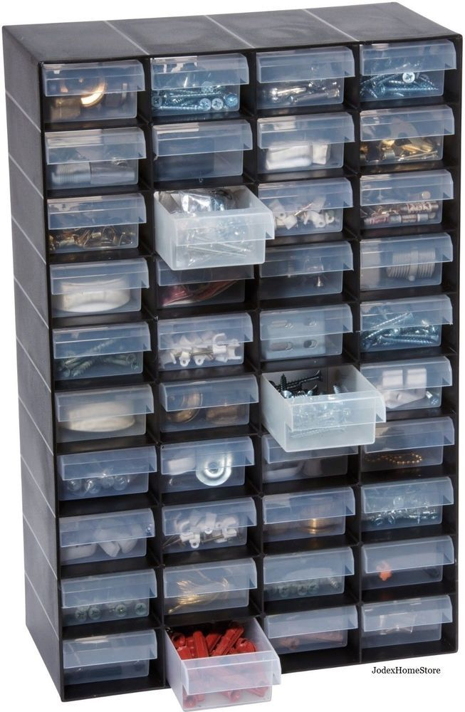 Garland Hobby Small Parts Storage Cabinet Organizer Box
