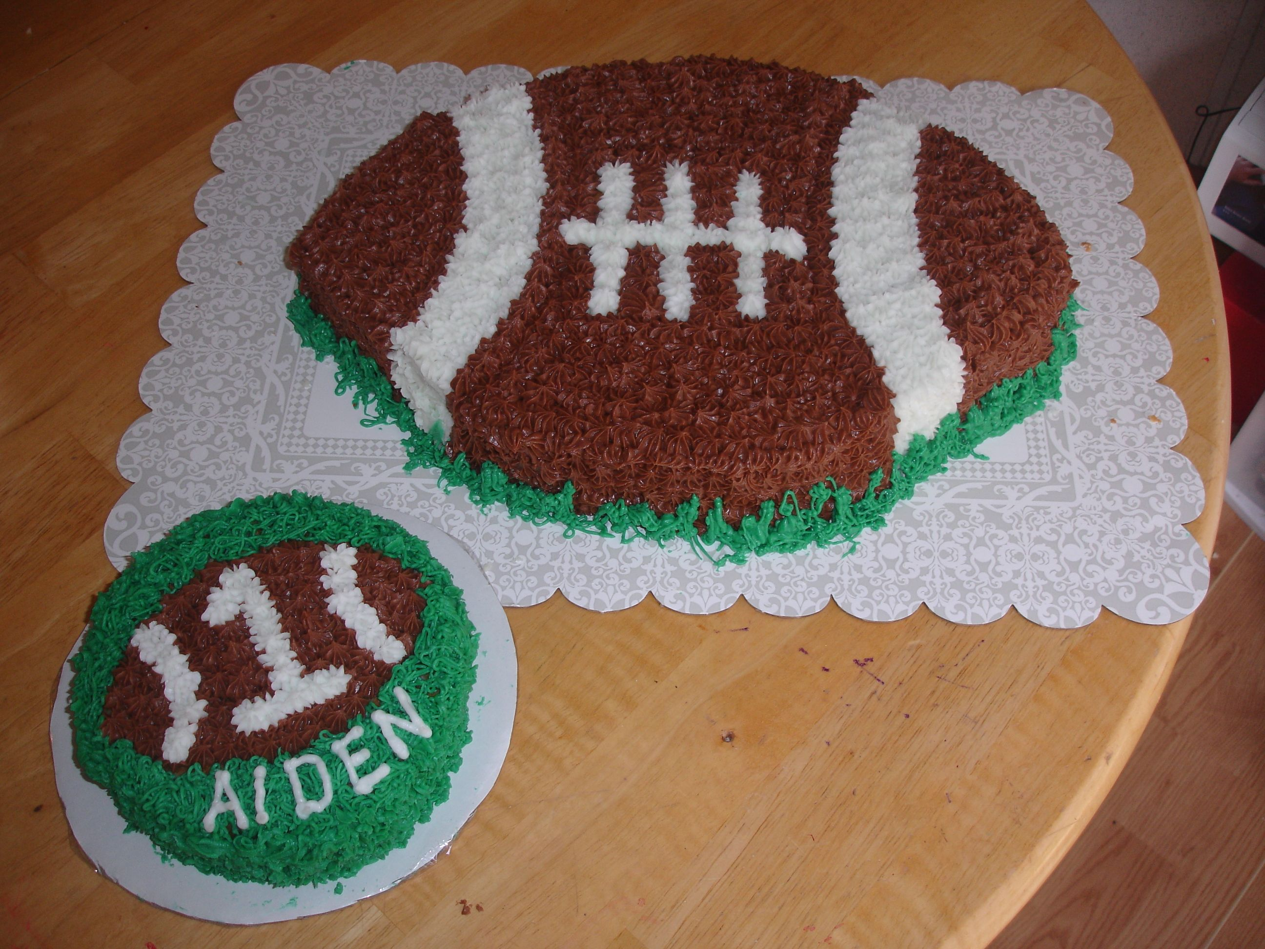 1st Birthday Football Cake With Smash Cake My Cakes