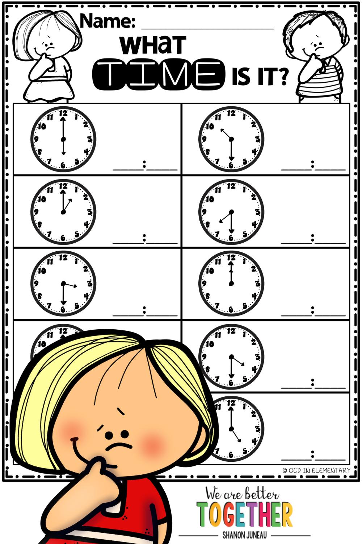 Telling Time Preschool Math Worksheets Math Worksheets First Grade Math Worksheets