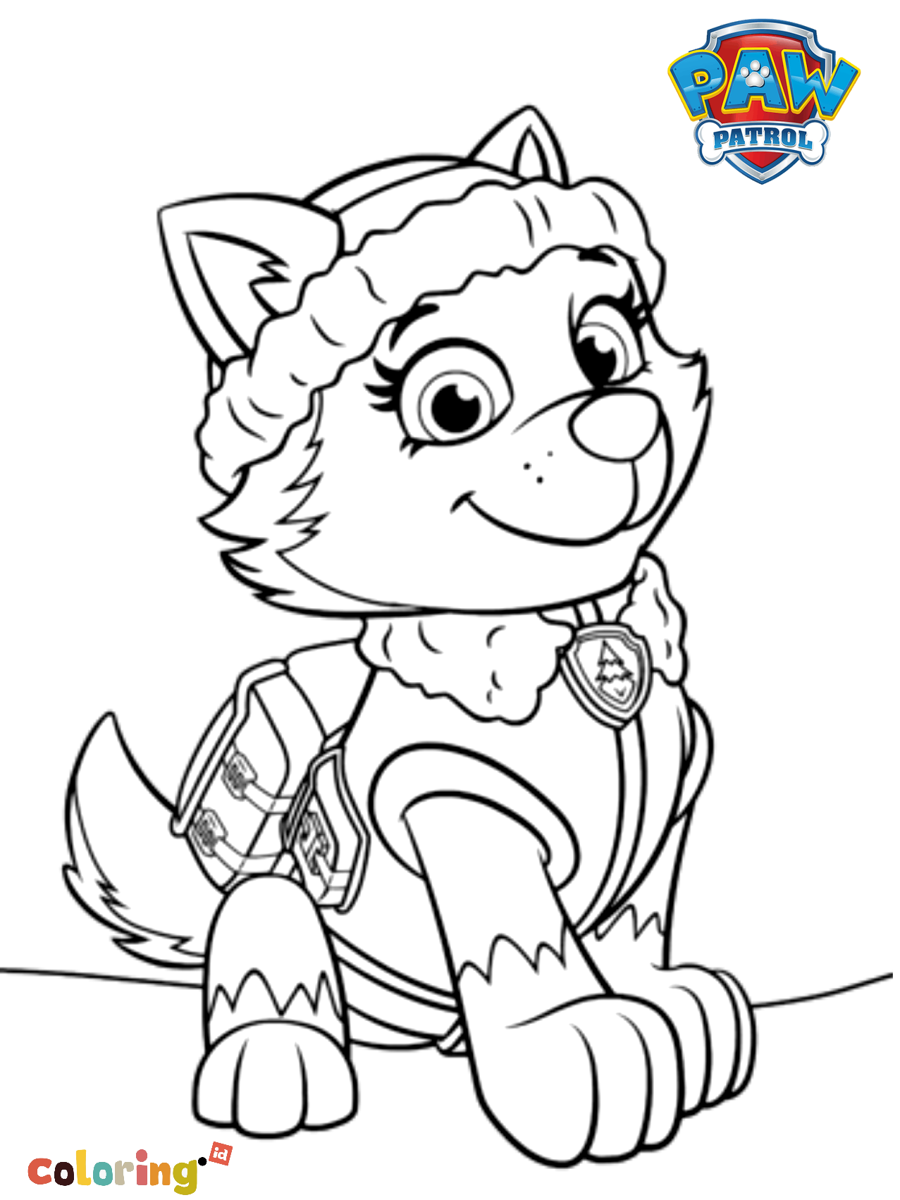 Paw Patrol Everest Free Coloring Page Thousands Of Coloring Pages And Printable Pages Of Cart In 2020 Paw Patrol Coloring Pages Paw Patrol Coloring Everest Paw Patrol