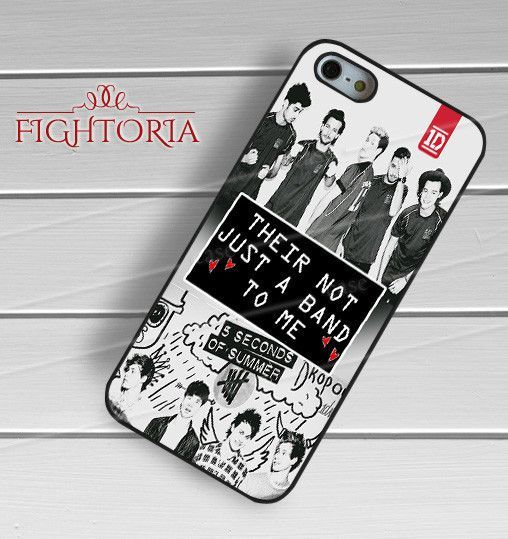 their not just a band to me 1D 5sos for iPhone 6S case, iPhone 5s case, iPhone 6 case, iPhone 4S, Samsung S6 Edge