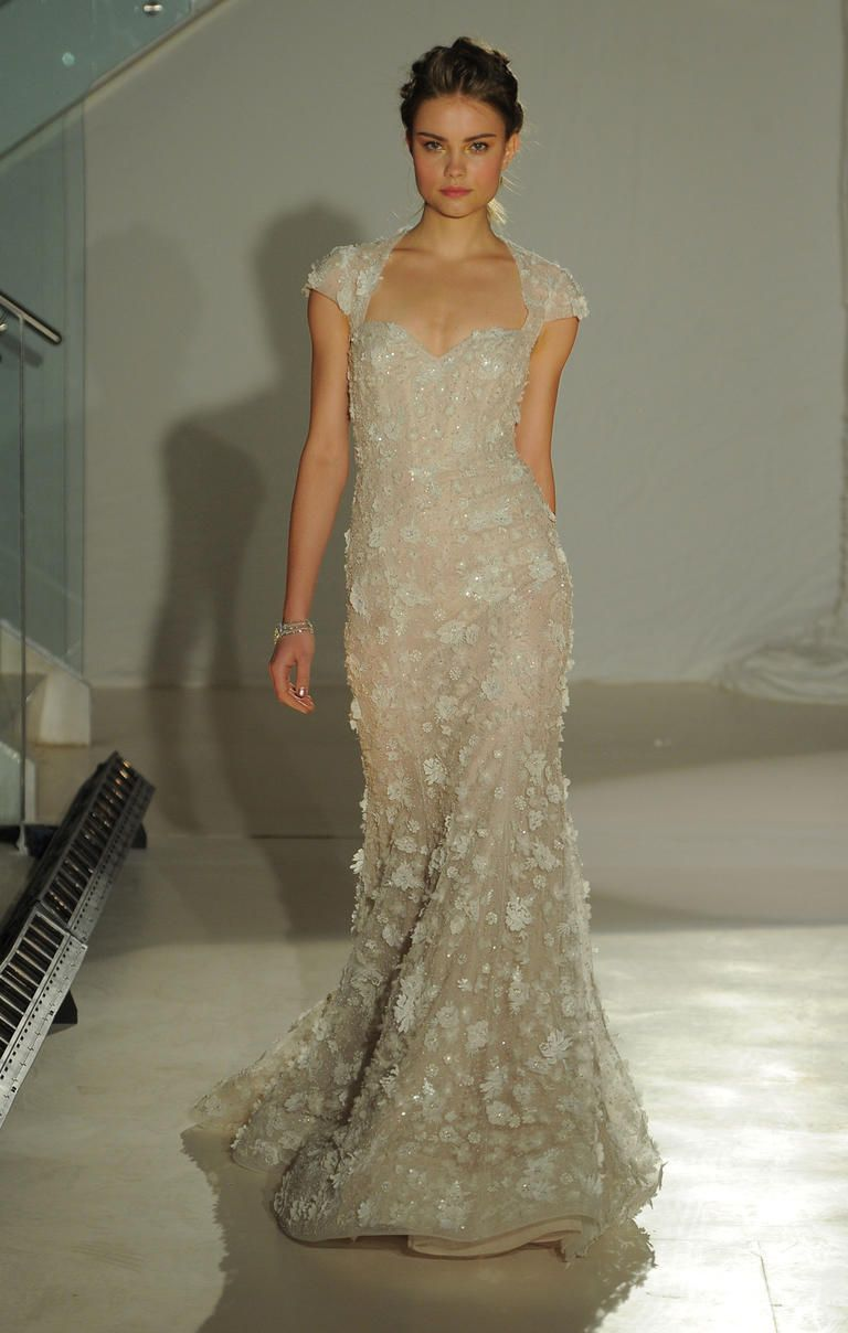 We Re Obsessed With Lazaro S Plunging Necklines For Spring 2017 Wedding Dressfl