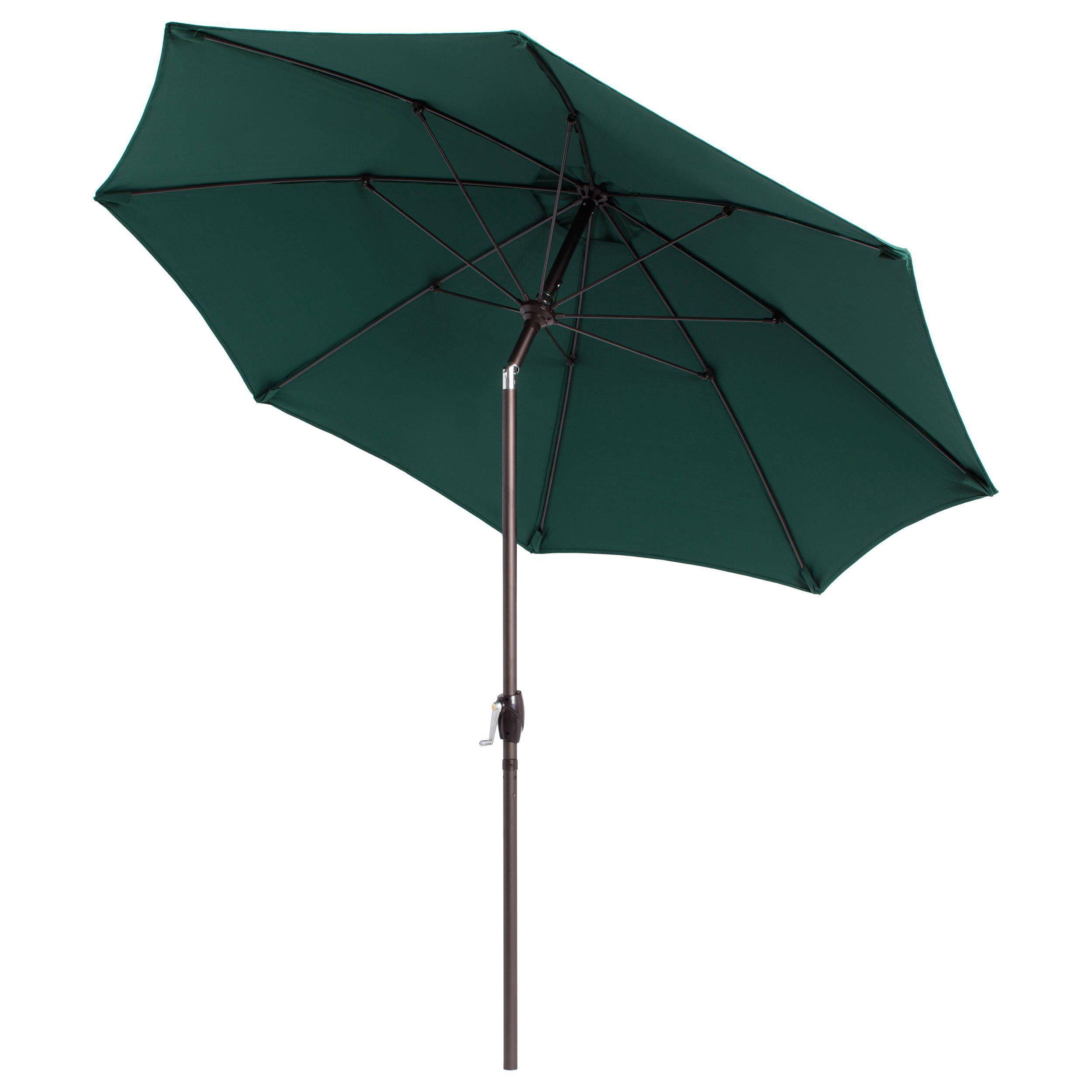 Lauren U0026 Company Fiberglass Olefin Crank And Tilt 9 Foot Umbrella (Hunter  Green)