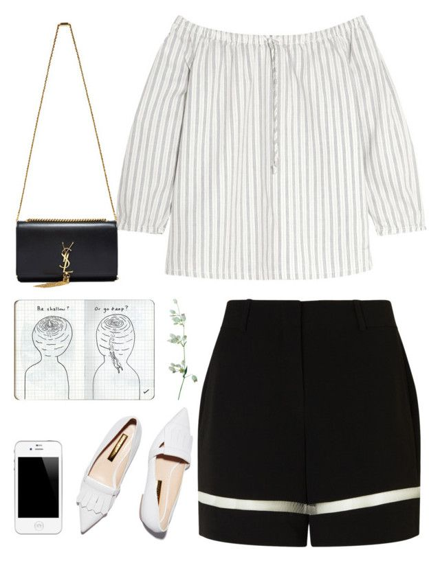 """Fading away"" by chintyar ❤ liked on Polyvore featuring Rupert Sanderson, Alexander Wang, Madewell and Yves Saint Laurent"