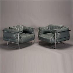 Pr Le Corbusier Style Lc3 Grand Comfort Chairs Le Corbusier Corbusier Furniture Design