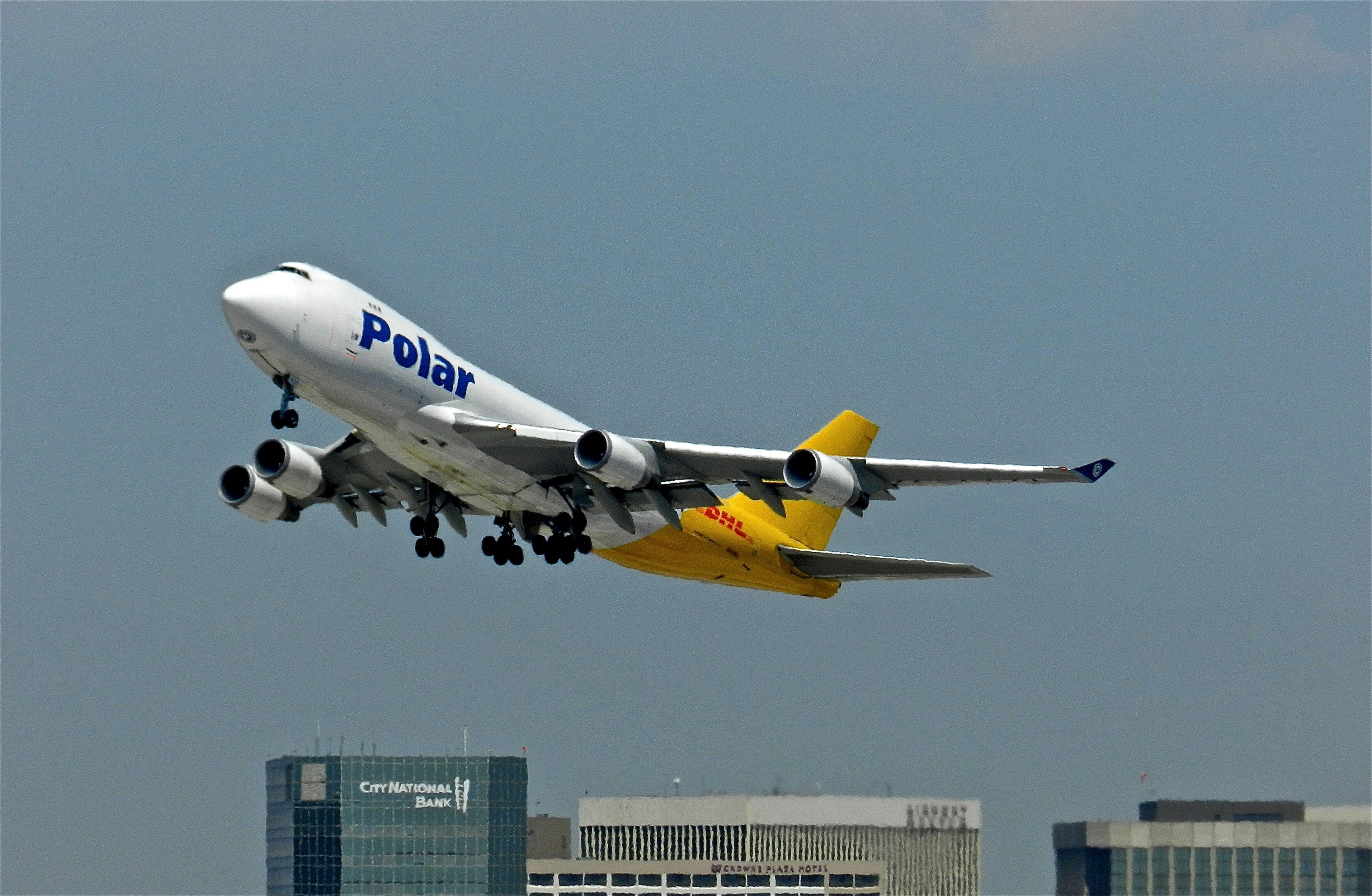 Polar Air Cargo DHL B 747 400 Cargo at LAX Air cargo