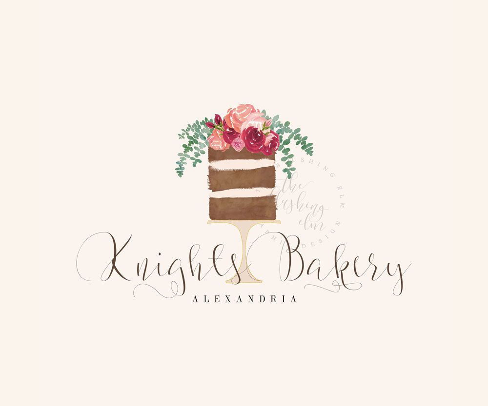 naked cake logo premade logo graphic design business