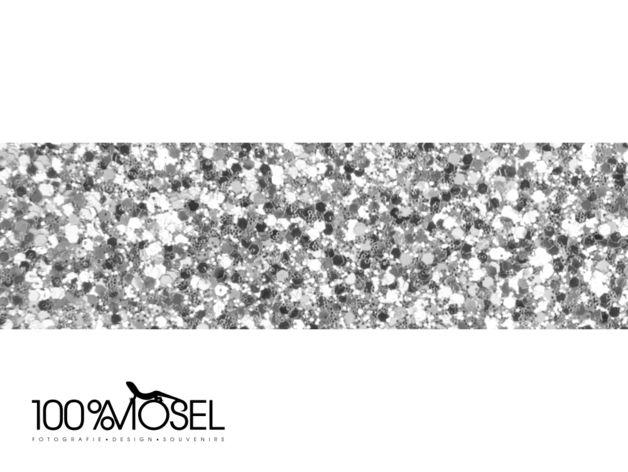 2 m silbernes Dekoband, 2 cm breit, mit Glitzerpartikeln