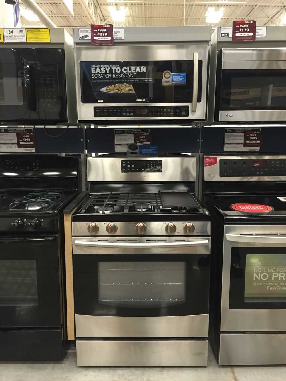 stove/oven/microwave - samsung. lowe's | appliances | pinterest