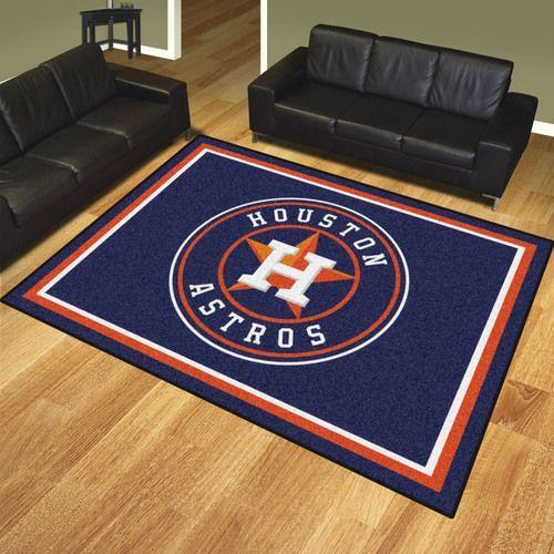 Houston Astros 8 X 10 Decorative Ultra Plush Area Rug
