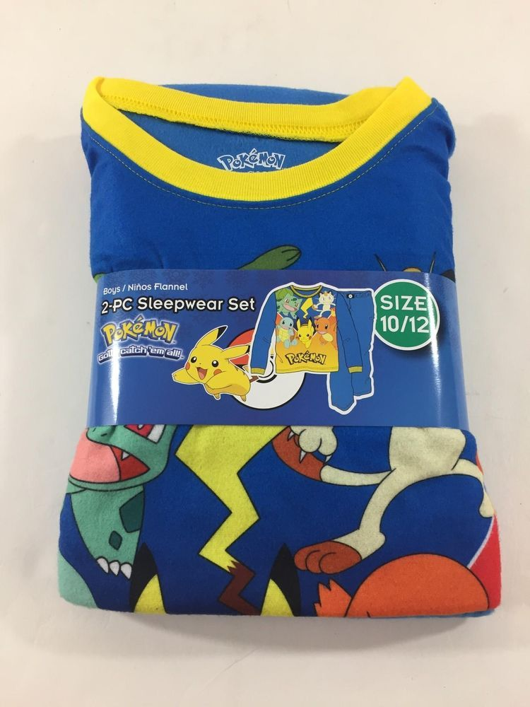 6578725b50 Pokemon Pajamas Size 10-12 Boys NWT Pikachu Catch Them All 2 Piece  fashion
