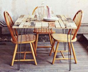 Comment faire une table rustique et vintage avec des planches de ...