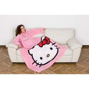 Kanguru Hello Kitty C Special Edition Fleece Decke Mit Brusttasche