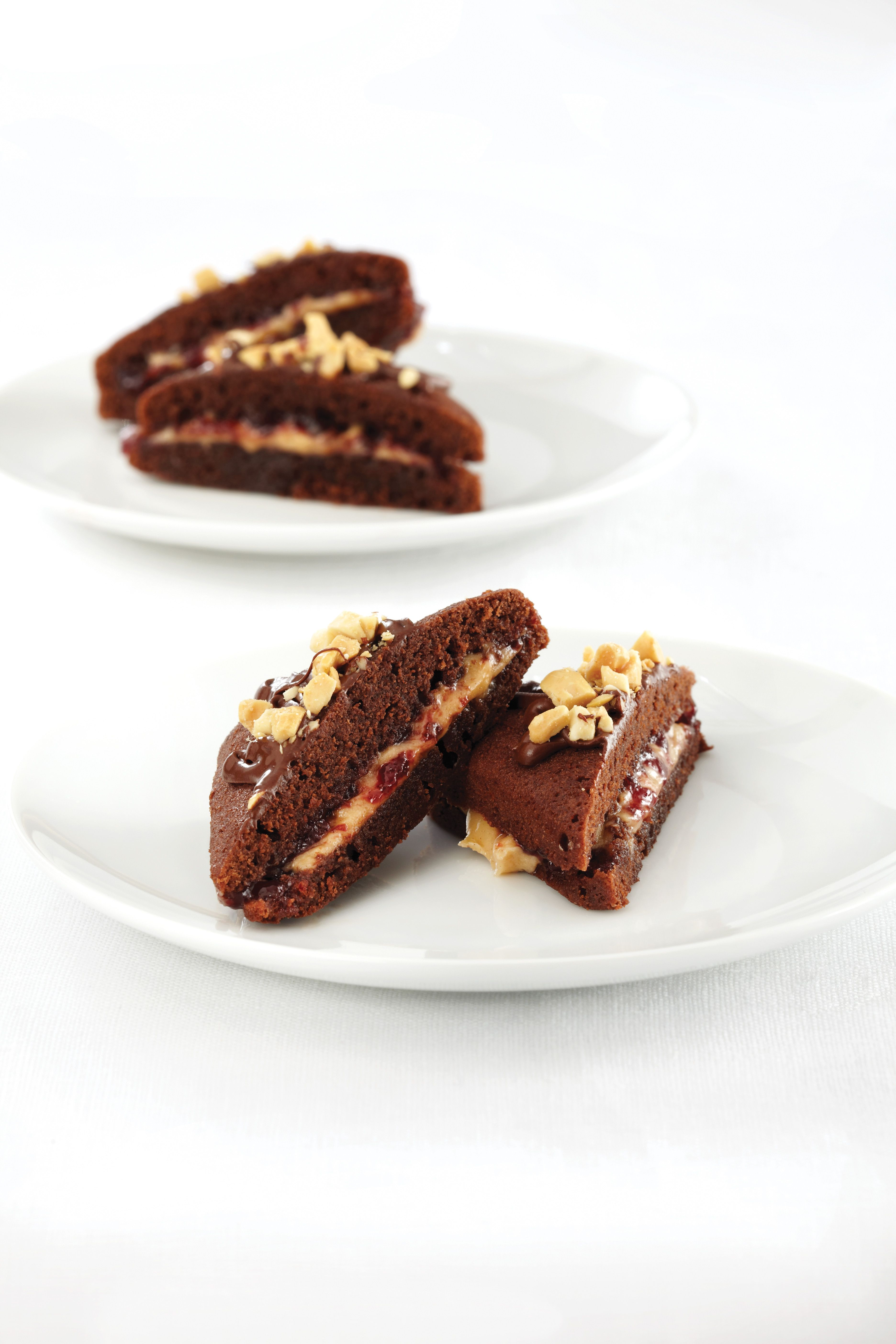 Peanut Butter N Jelly Brownie Sandwiches Recipe Pampered Chef