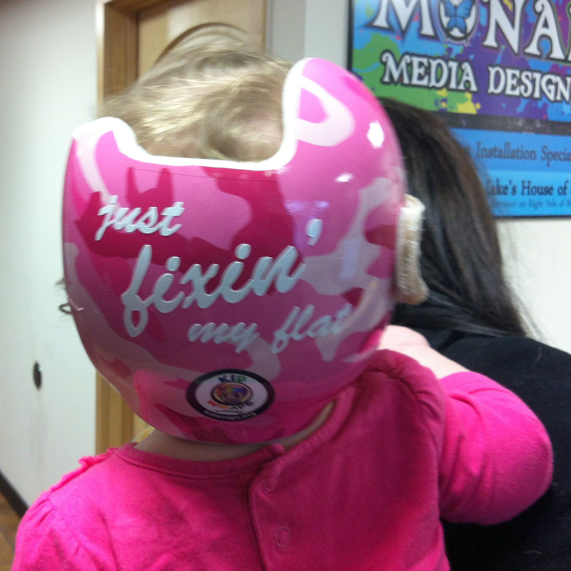 Www kidwraps org skylars pink camo doc band featured just fixin my flat on the back of it done by monarch media designs in madison wi