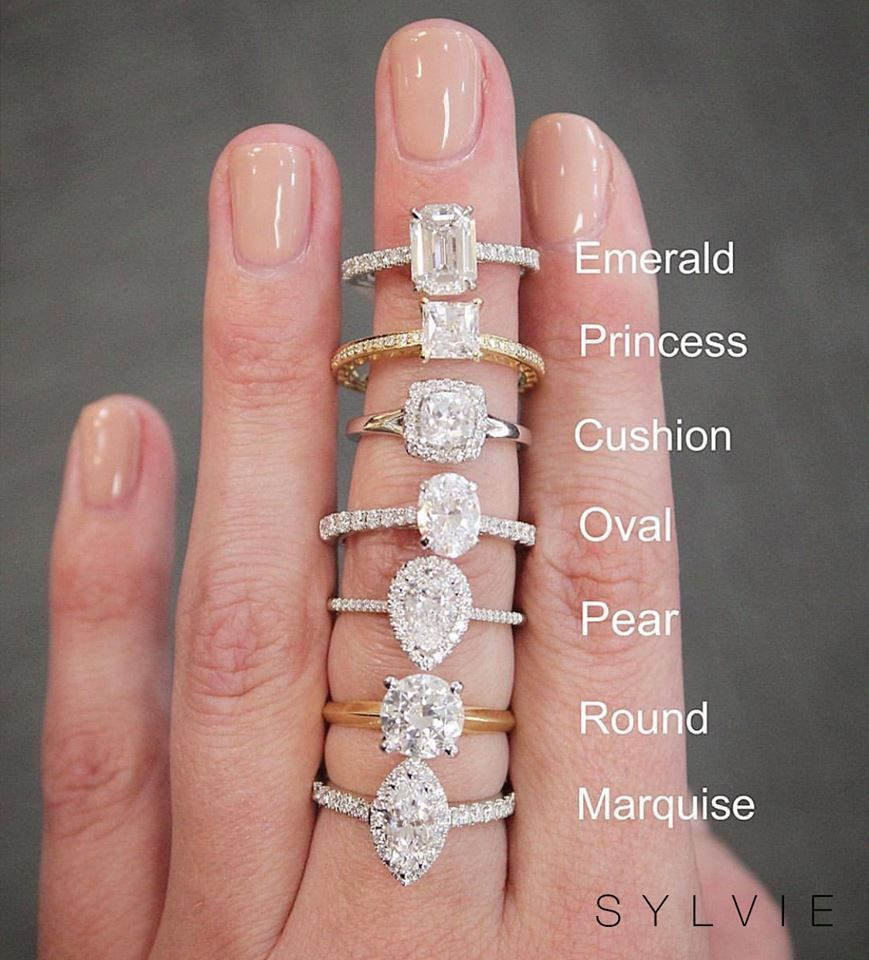 So Many Shapes So Little Time What Diamond Shape Do You Love Dream Engagement Rings Moissanite Engagement Ring White Gold Sylvie Engagement Rings