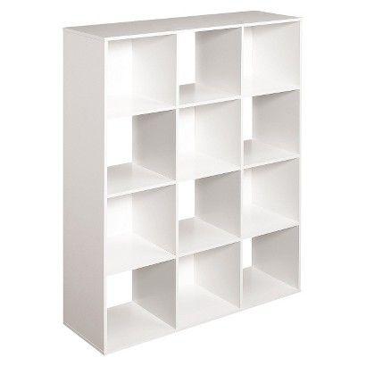 Closetmaid Cubeicals 12 Cube Organizer White Add Bins