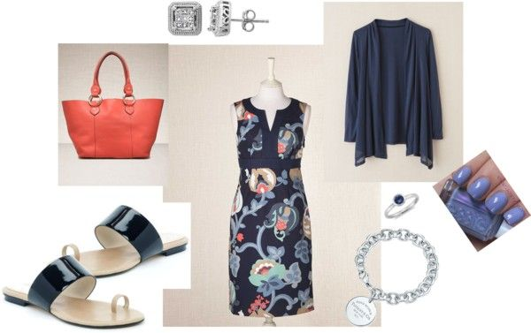 """Boden summer shift dress ~ 2012"" by zbunny on Polyvore"