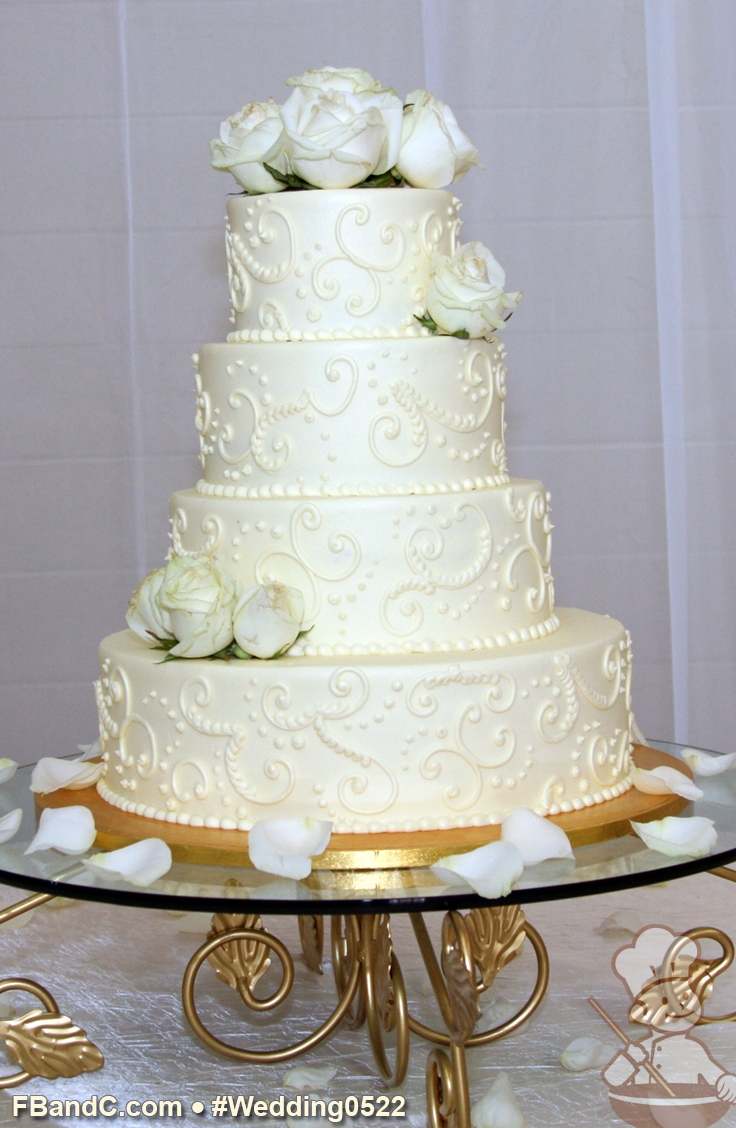 Cream heart cake says i love you in a hundred different ways - Design W 0522 Butter Cream Wedding Cake 14 10 8