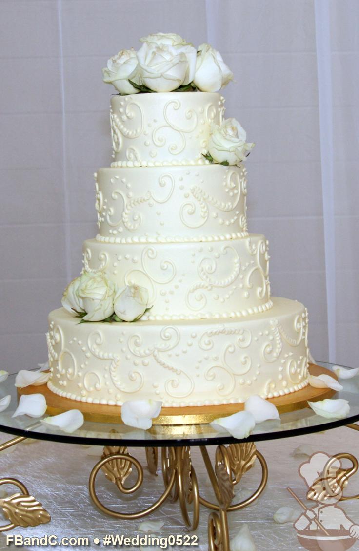 Design W 0522 | Butter Cream Wedding Cake | 14\