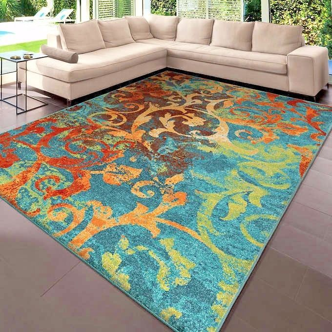 Rugs Area Rugs 8x10 Rug Carpets Modern Large Colorful Bedroom 5x7 Cool Blue Rugs Ebay 8x10 Area Rugs Area Rugs Rugs On Carpet