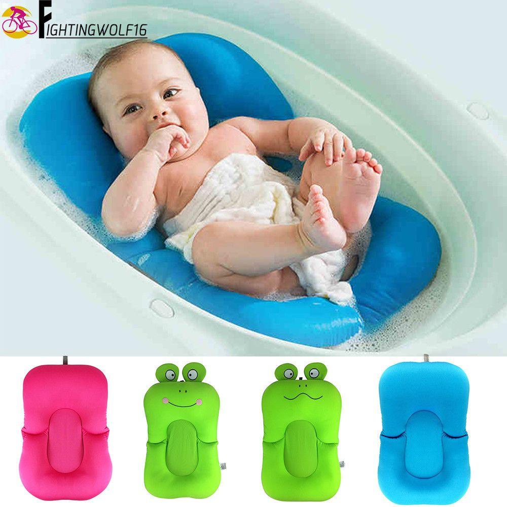 Soft Non-Slip Baby Bathing Mat Newborn Comfortable Safe Bath Tube ...