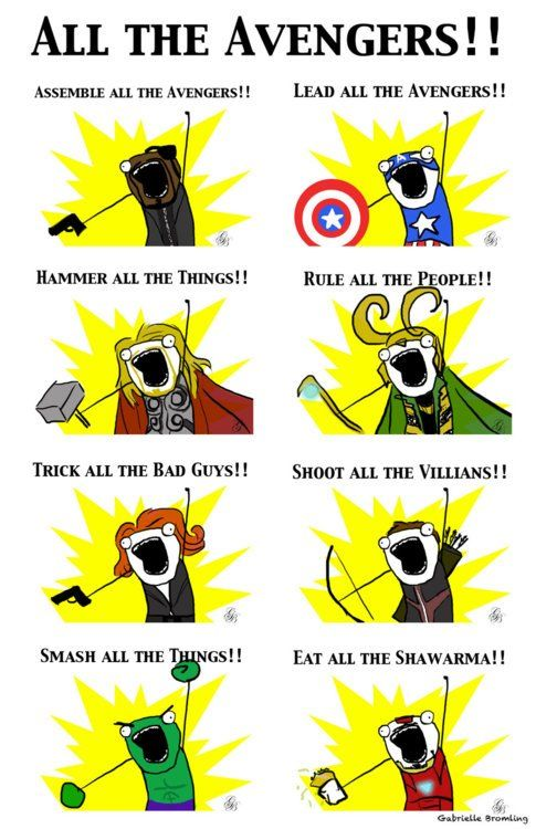 Oh Tony. Way to have your priorities straight. Avengers x Hyperbole and a Half