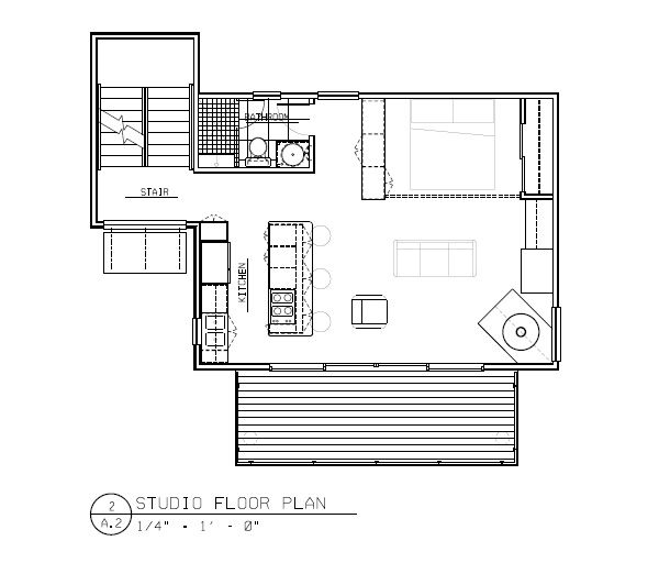 Studio Home Plans Simple Modern Studio House Plan In Rhode Islandnative Architect