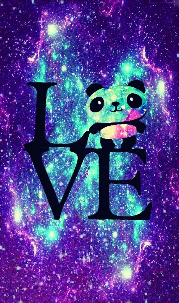 Panda Love Galaxy Wallpaper I Created For Cocoppa Wallpaper Iphone Neon Wallpaper Iphone Cute Unicorn Wallpaper