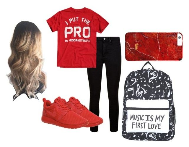"""(PRO)CRASTINATOR"" by jennibae on Polyvore featuring Paige Denim and NIKE"