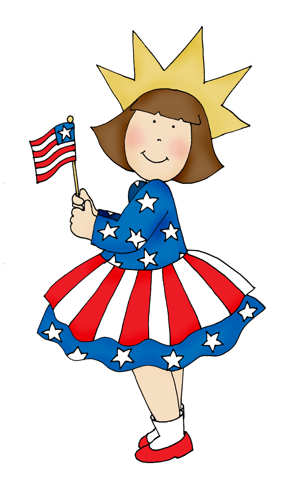 medium resolution of free dearie dolls digi stamps 4th of july girl
