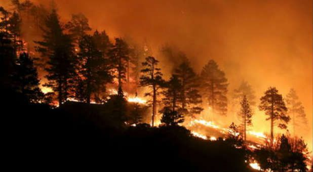 California is dealing with droughts, floods, earthquakes and fire all at once... JUL 22 2015