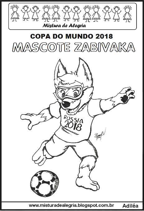 copa do mundo 2018 mascote zabivaka imprimir colorir jpg 463 678