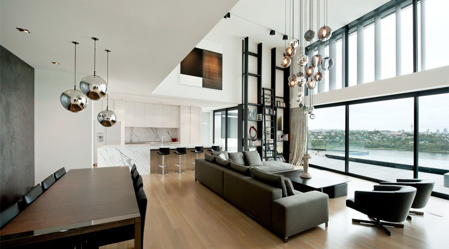 Home I Interior I Furniture I Lucerne I Daniel Marshall Architects I Mirror Ball Lighting by Tom Dixon