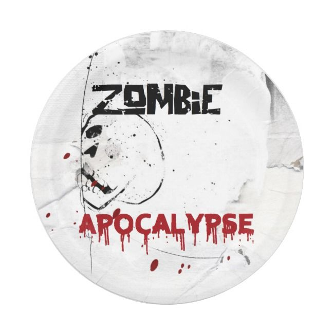 Zombie apocalypse theme party paper plate | Zazzle.com #zombieapocalypseparty