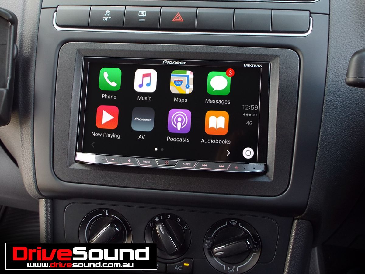 vw polo with apple carplay installed by drivesound. Black Bedroom Furniture Sets. Home Design Ideas