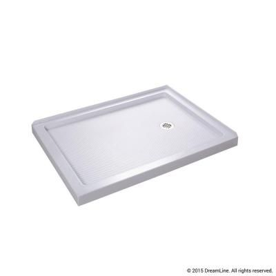 Beau Double Threshold Shower Base In White