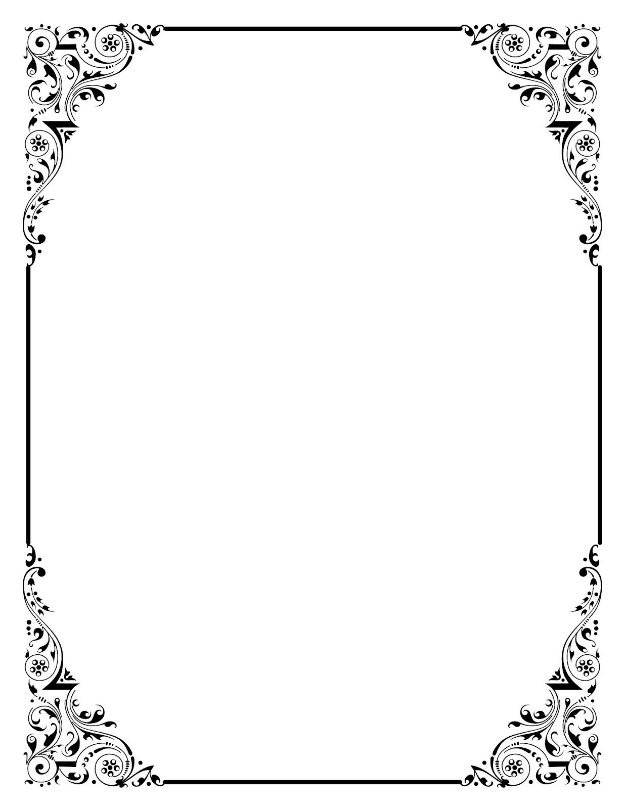 You Can Use This Beautiful Vintage Clip Art Frames In Your