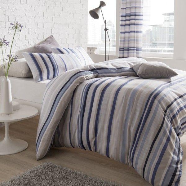 Knitted Stripe Blue Single Duvet Kool Rooms For Kool Kids Blue Duvet Striped Duvet Covers Blue Duvet Cover