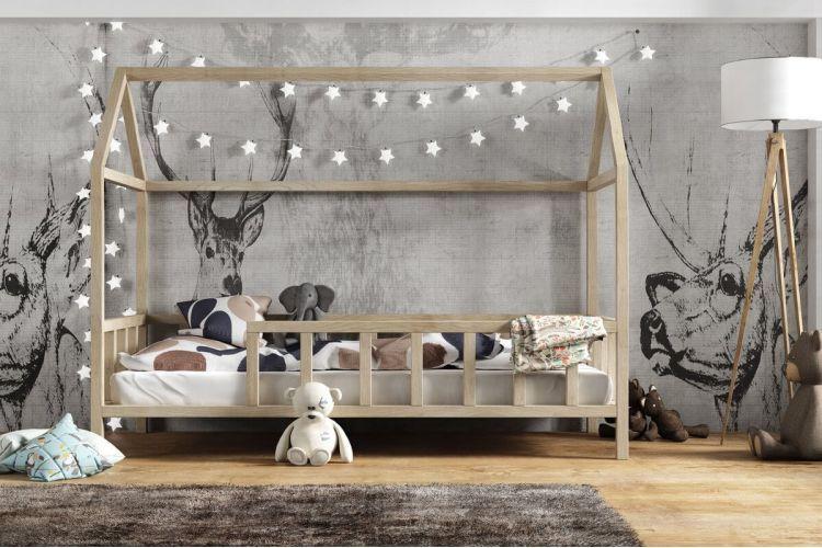 Kinderbett Kinder Hausbett Mit Rausfallschutz Holz Bett Kinderbett Kinderhaus Kinderbett Rausfallschutz Kinderbett