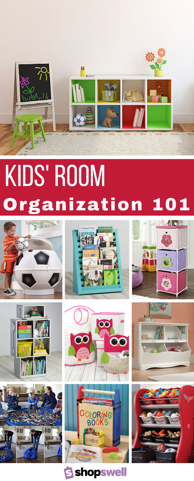 11 Tips For Keeping Kids Toys Organized: 28 Awesome Ways To Organize Your Kids' Room