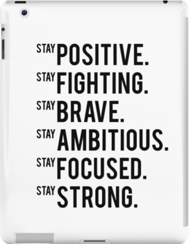 Stay Positive Inspirational Quote Motivational Quote Gym Decor Fitness Quote Printabl Ipad Snap Case by Nathan Moore
