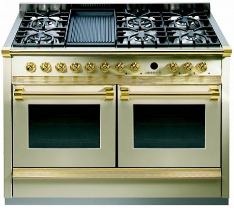 fratelli onofri 120cm range cooker steel cucine twin oven | luxury ... - Steel Cucine