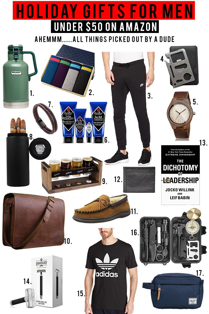 27e40ffb466d Amazon Prime Holiday gift guide for men under  50. Tons of awesome mens  christmas gifts for a great price.