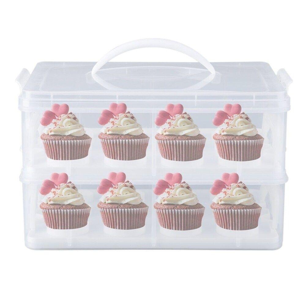Cupcake carrier mini cake box cup cake holder storage