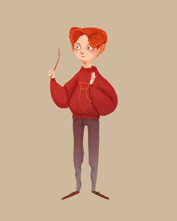 Weasley is Our King  Illustration Print by NanLawson on Etsy