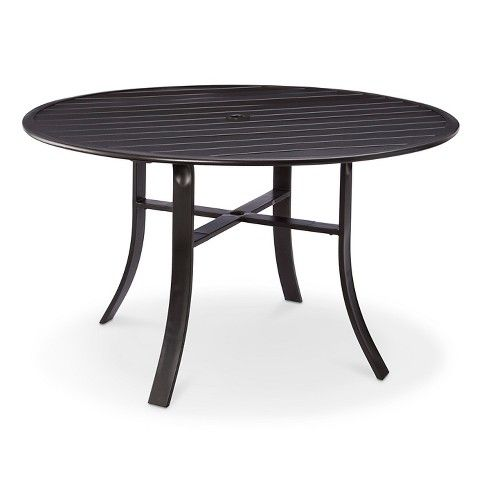 Camden 48 Round Dining Table Black Threshold