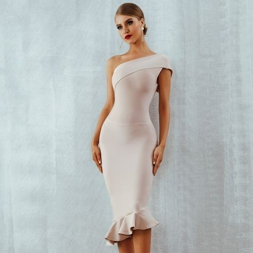 5999ddb1e611d Adyce 2019 new summer women bandage dress vestidos one shoulder ...