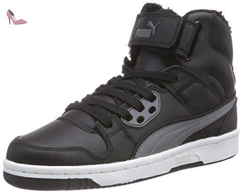 Puma Puma Rebound Street Fur, Baskets hautes mixte adulte - Noir - Schwarz  (black