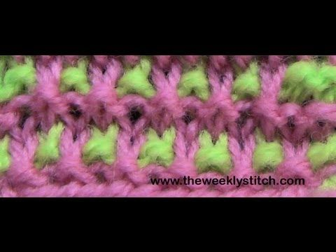 Loom Knitting With Two Colors : Two color granite stitch youtube knitting video & tutorial